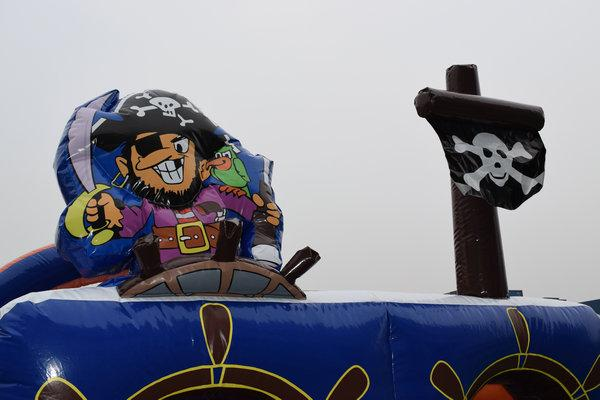 Parcours d'Obstacles Pirate Gonflable