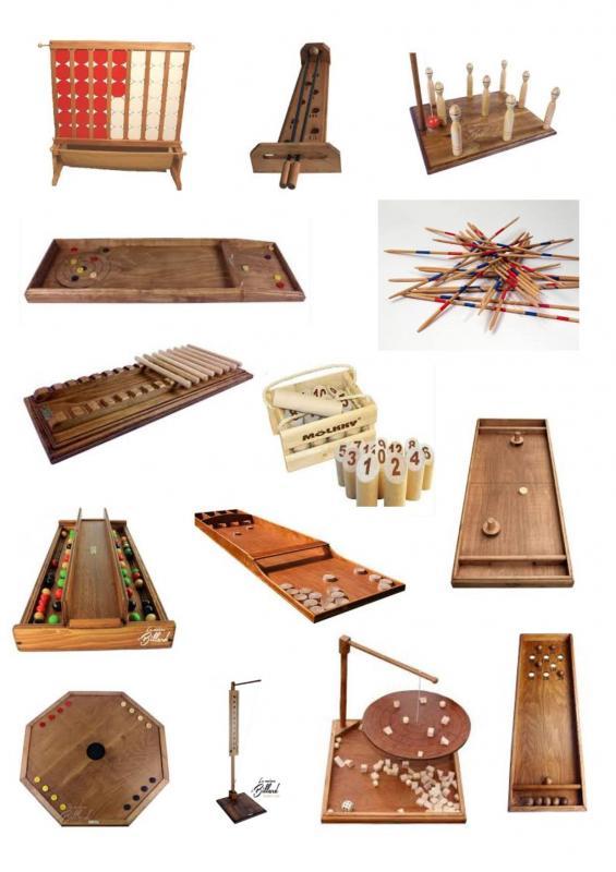 Parc ephemere jeux en bois catalogue